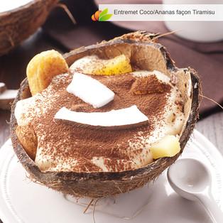 Entremet coco et ananas façon tiramisu