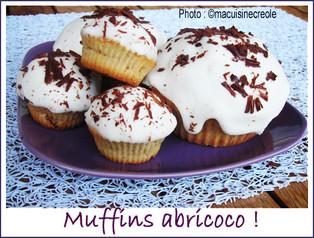 Muffins abricots et lait de coco