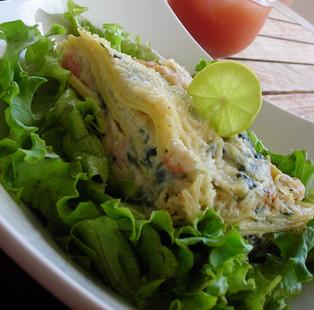 Lasagnes aux épinards et fruits de mer