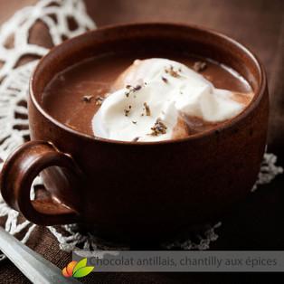 Chocolat antillais, chantilly aux épices