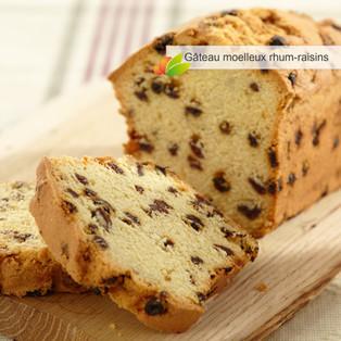 Cake léger au rhum-raisins