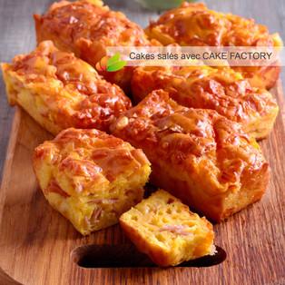 Mini cakes salés à personnaliser avec le CAKE FACTORY de Téfal
