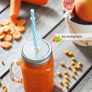 Jus énergisant et antioxydant