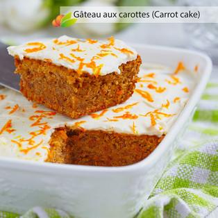 Gâteau aux carottes (british carrot cake)