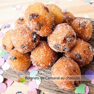 Beignets de Carnaval au chocolat