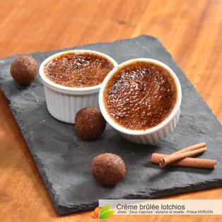 Crème brûlée aux lotchios