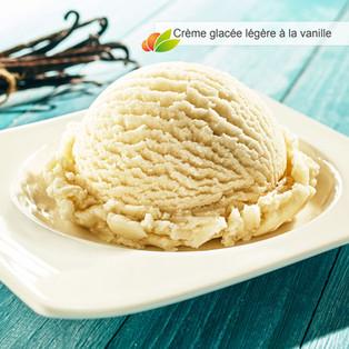 Crème glacée à la vanille légère (sans oeufs)
