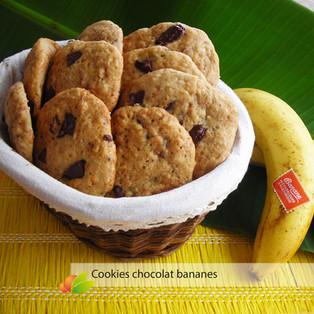 Cookies moelleux à la banane et au chocolat