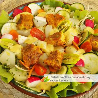 JEU CONCOURS LESIEUR & Salade créole au poisson curry sauces Lesieur
