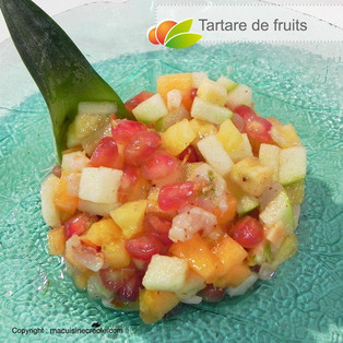 Tartare de fruits doucement acidulé