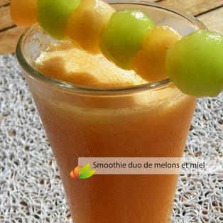 Smoothie melon, carotte et miel de Martinique