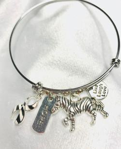 Zebra Awareness Bangle Bracelet