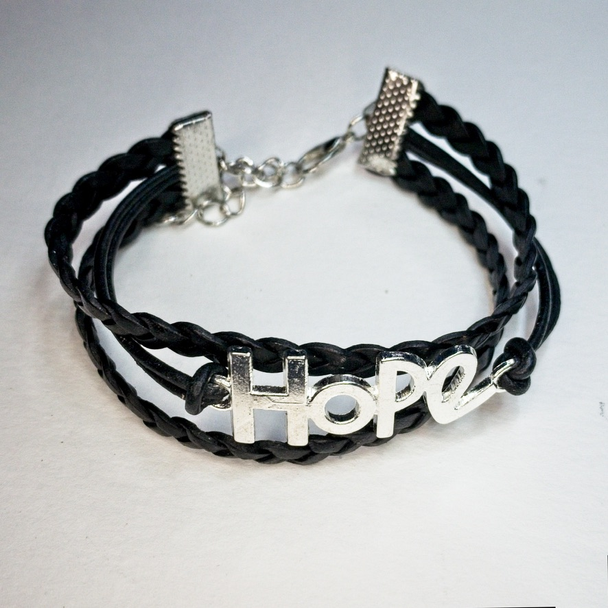 HOPE and Leather bracelet