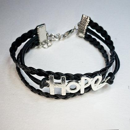 Leather HOPE bracelet