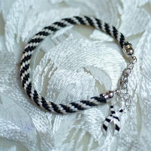 Zebra Style Weave Bracelet