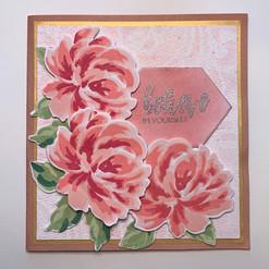 pink multilayer flower