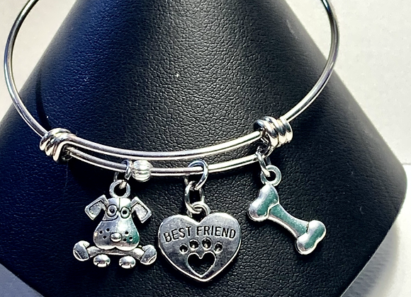 Charm bracelet with Dog and pet lover charms