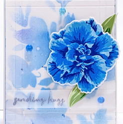 blue layered floral card