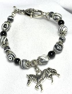 Zebral Malachite and Zebra Charm