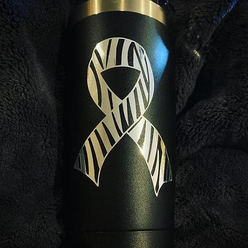 Custom Zebra Ribbon Vinyl Cutouts