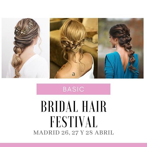 BRIDAL HAIR FESTIVAL. BASIC 270€