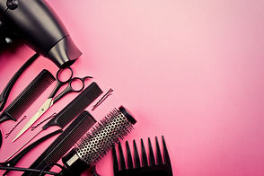 Hairdresser set with various accessories