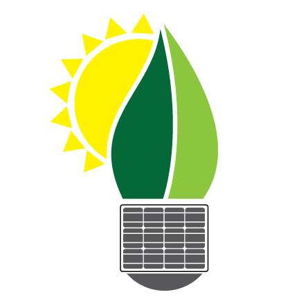 Solar energy logo concept