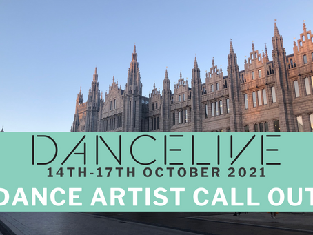 DANCELIVE 2021 - DANCE ARTISTS - CALL OUT