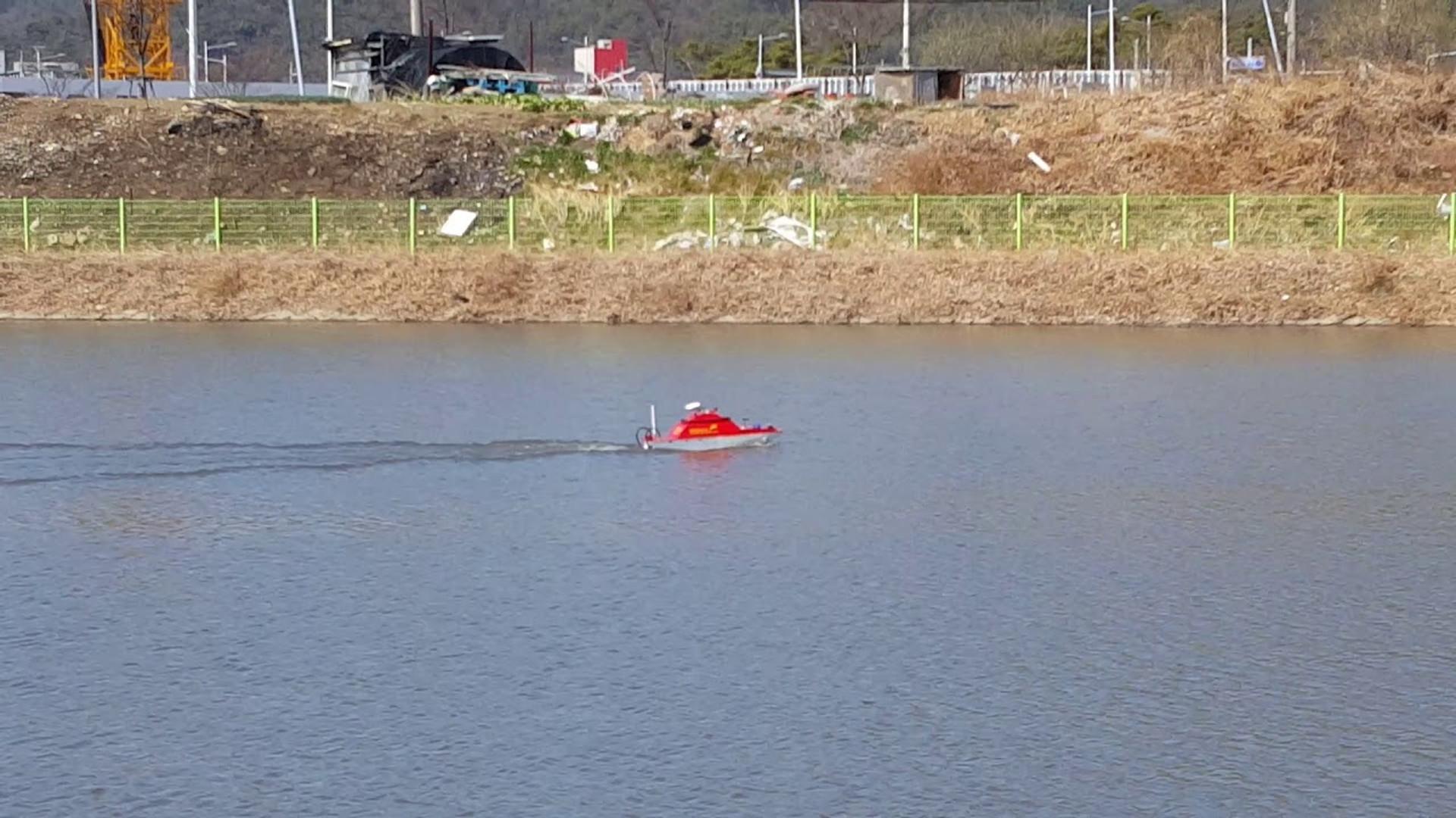 저수지 용적량 측량 무인수상정(USV) 최대 속도 테스트( 2m/s)