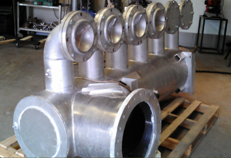 aluminum pipe assembly