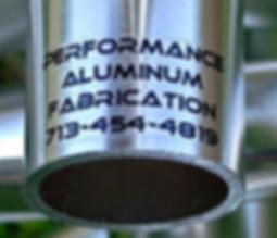 Anodized aluminum logo