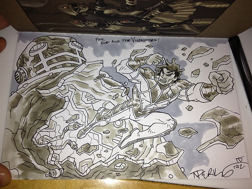 The Art of Thomas N. Perkins IV w/ Original Sketch