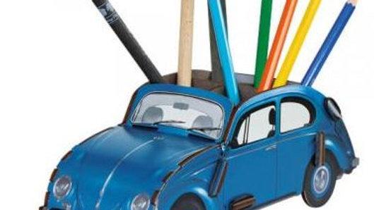 VW Coccinelle Boîte à crayons - bleue , rouge , blanc