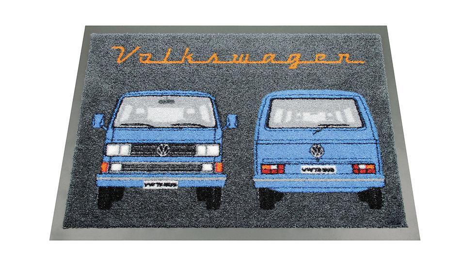 VW T3 Combi Paillasson, 70x50cm - Front & Arrière/bleu