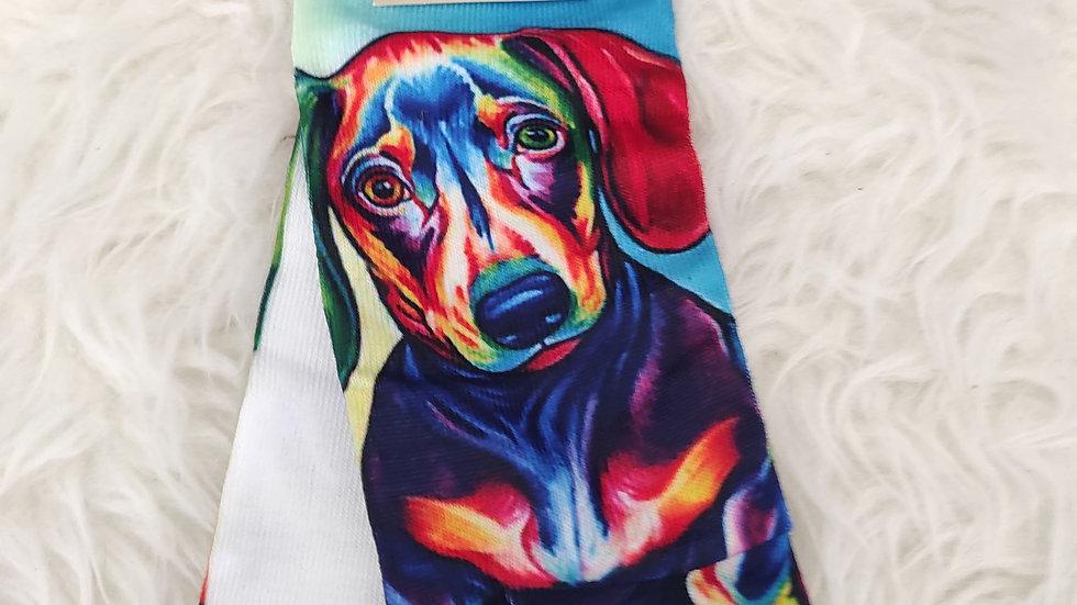 Chaussettes à motifs multicolores teckel multicolor