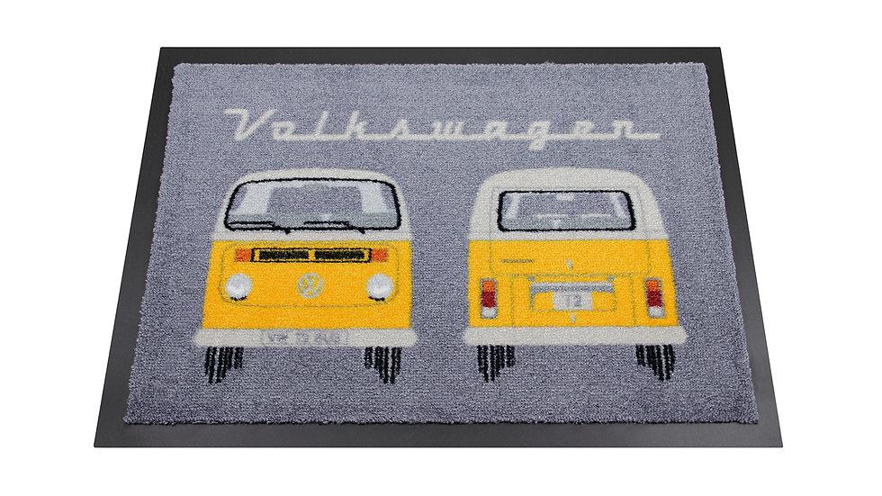 VW T2 Combi Paillasson, 70x50cm - Front & Arrière/orange