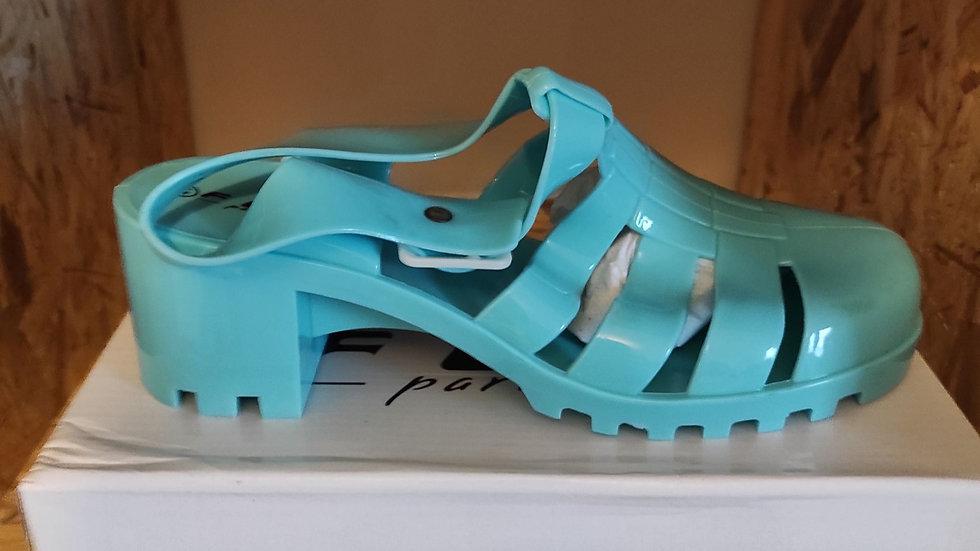 Chaussure de plage vert/bleu