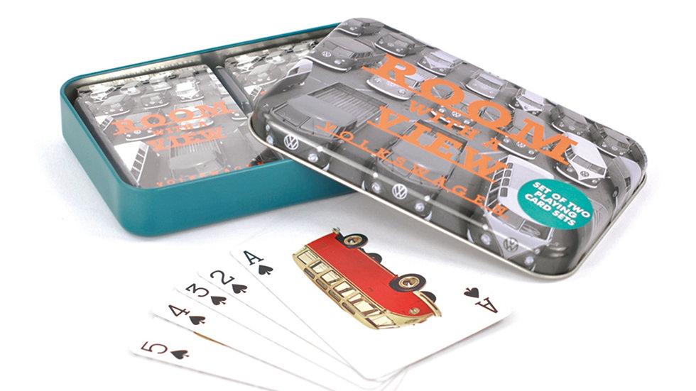 VW T1 Combi Jeux de carte en boîte métallique