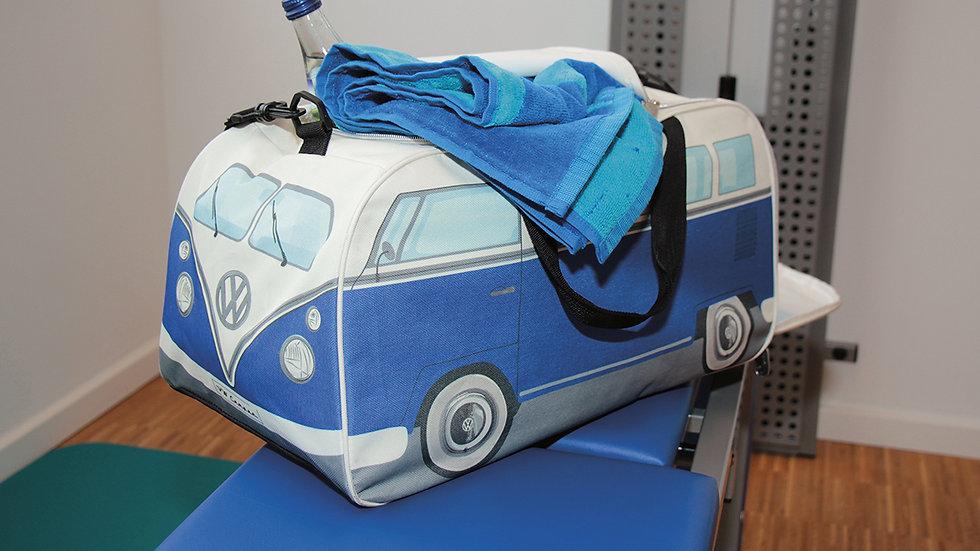VW T1 Combi Sac de sport compact - bleu/beige