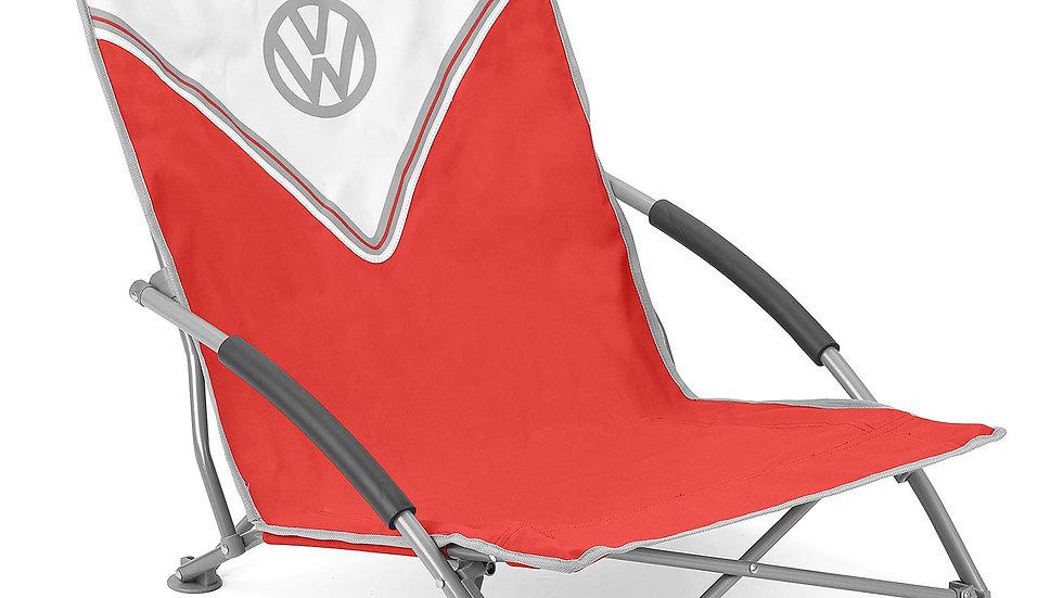 VW T1 Combi Chaise de Camping pliable avec un étui de transport – Front / rouge