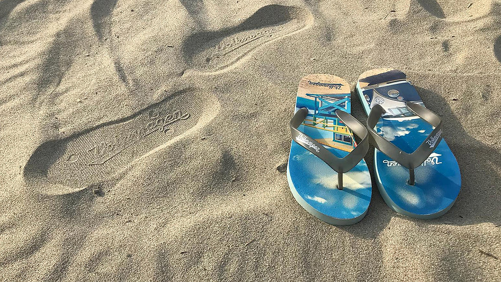 VW T1 Combi Sandales de plage  - Beachlife/bleu