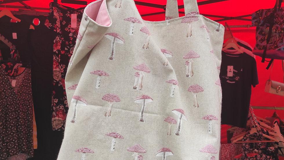 Tote bag champignons grand modèle ( plage )