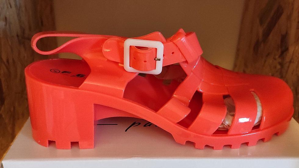 Chaussure de plage rouge/orange