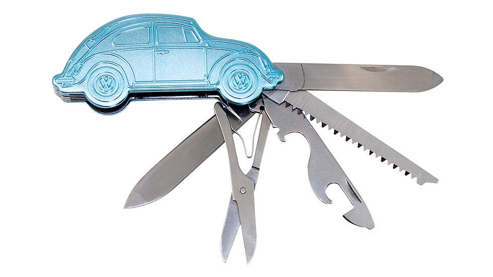VW Coccinelle 3D Couteau de Poche dans boîte cadeau - bleu