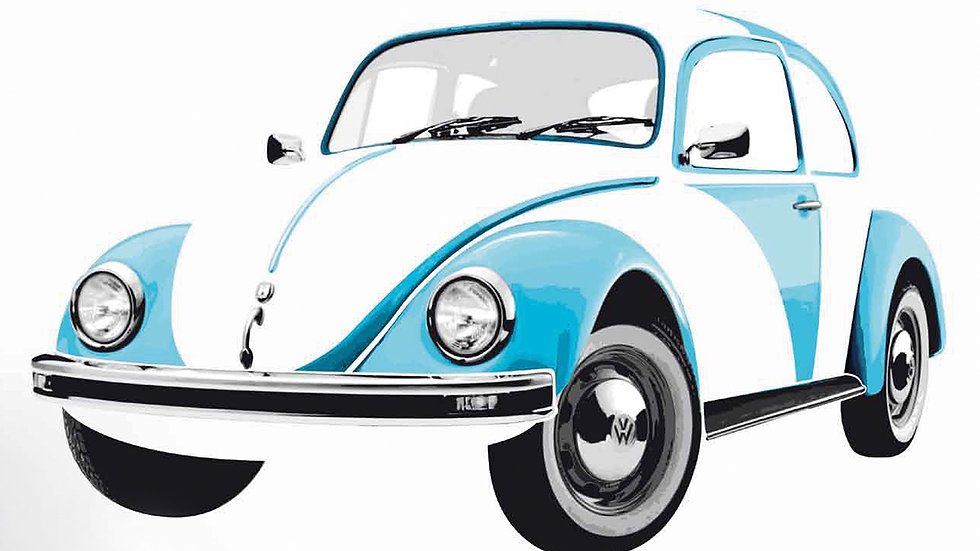VW Coccinelle Sticker muraux - bleu