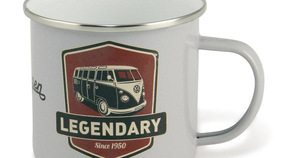 VW T1 Combi Tasse émaillé 500ml - Legendary/gris clair