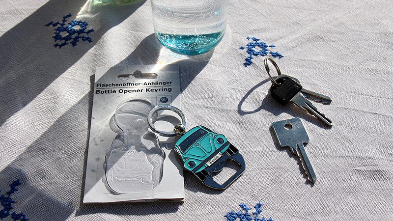 VW Coccinelle Porte-clés/l'ouvre-bouteille - bleu