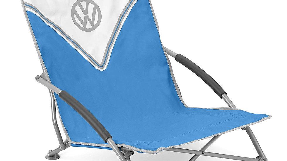 VW T1 Combi Chaise de Camping pliable avec un étui de transport – Front / bleu
