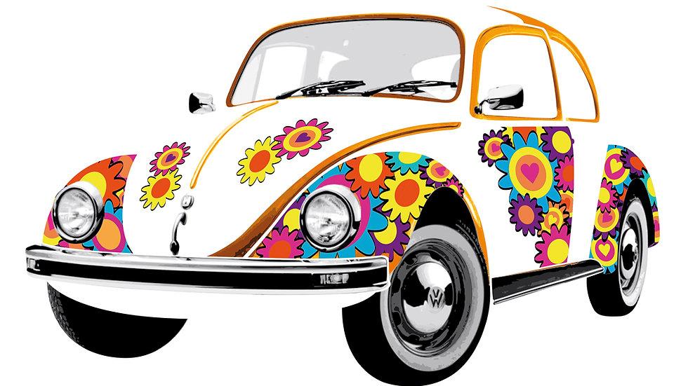 VW Coccinelle Sticker muraux - Flower