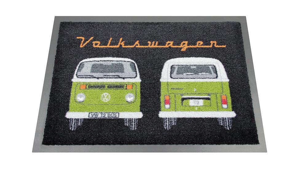 VW T2 Combi Paillasson, 70x50cm - Front & Arrière/vert